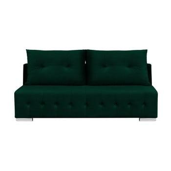 Canapea extensibilă cu 3 locuri și spațiu pentru depozitare Melart Robert, verde închis de la Melart