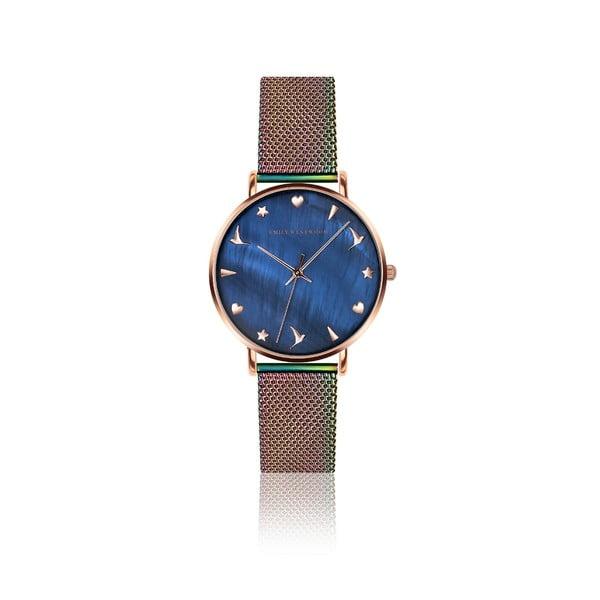 Damski zegarek z kolorową bransoletką ze stali nierdzewnej Emily Westwood Daisy