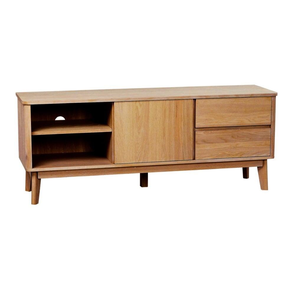 Přírodní televizní stolek z dubového dřeva Yumi Folke