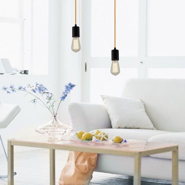 Závěsné svítidlo s 5 bílými kabely a stříbrnou objímkou Bulb Attack Cero