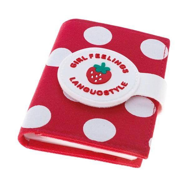 Pouzdro na doklady Strawberry, červené