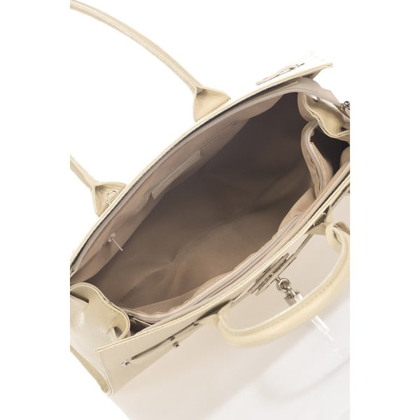 Béžová kožená kabelka Giorgio Costa Fiola