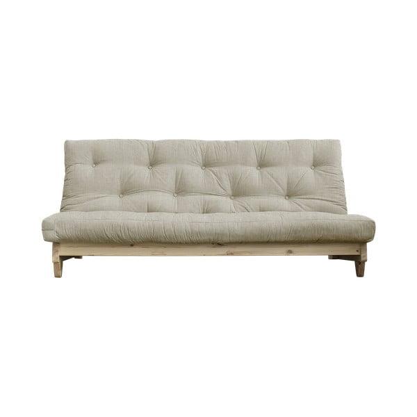 Sofa rozkładana z lnianym pokryciem Karup Design Fresh Natural/Linen