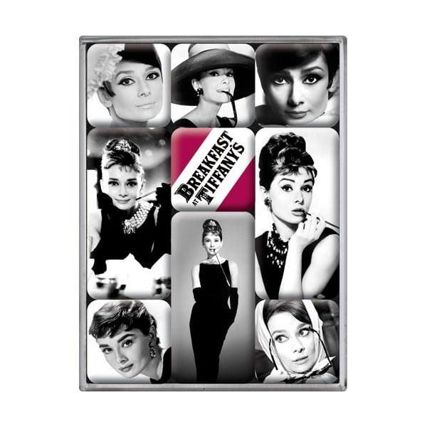 Sada magnetů Audrey Hepburn, 9 ks