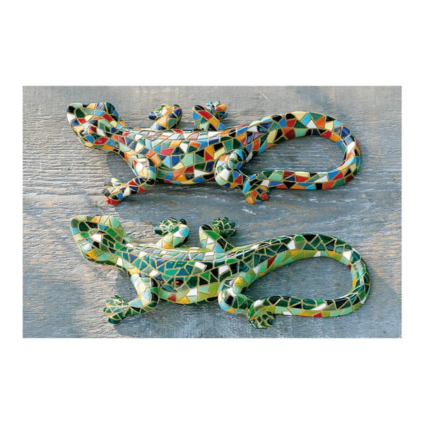 Sada 2 dekorativních sošek Boltze Exotic Lizards