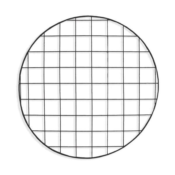 Čierna drôtená nástenka Really Nice Things Circle Negro, ⌀ 59 cm