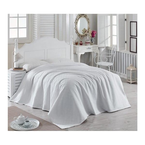 Magnona fehér könnyű pamut ágytakaró, 200 x 240 cm