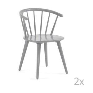 Sada 2 šedých jídelních židlí La Forma Krise