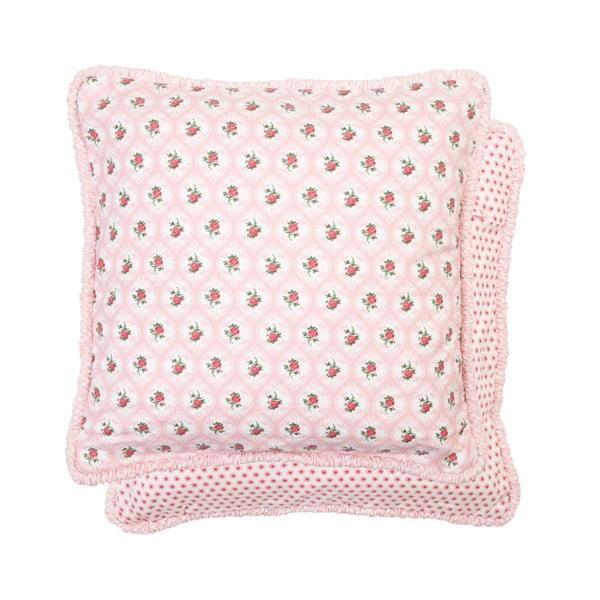 Růžový povlak na polštář Clayre & Eef, 40x40 cm