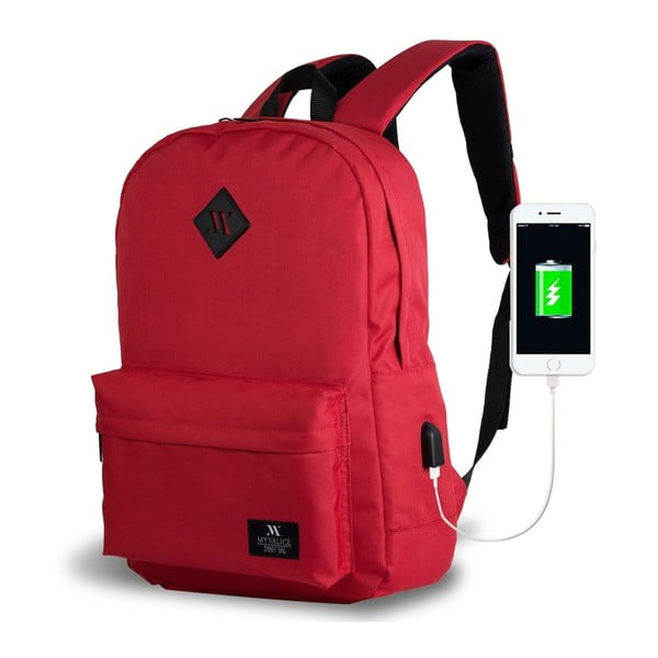 Rucsac cu port USB My Valice SPECTA Smart Bag, roșu