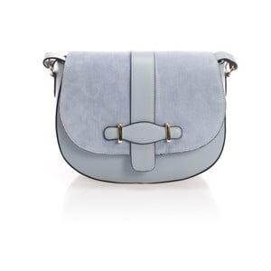Světle modrá kožená kabelka Giorgio Costa Rumo