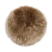 Kožešina na židli z novozélandské ovce Taupe, 37 cm