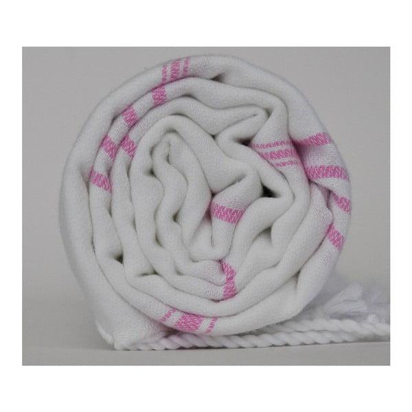 Peshtamal Stripy White/Pink, 100x180 cm