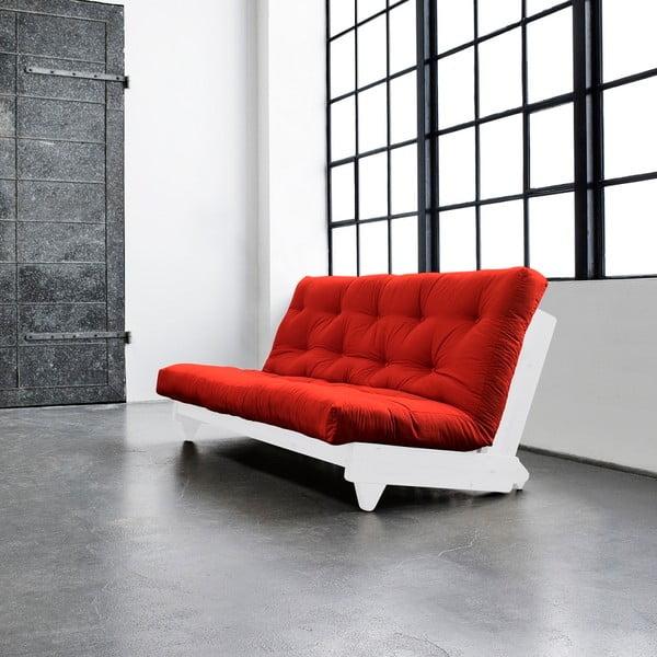 Canapea extensibilă Karup Fresh White/Red