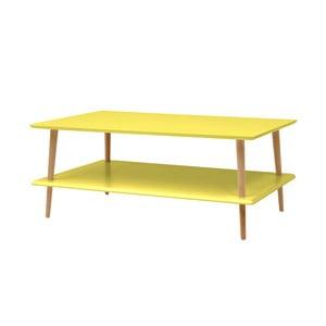 Žlutý konferenční stolek se sníženou spodní deskou Ragaba KORO