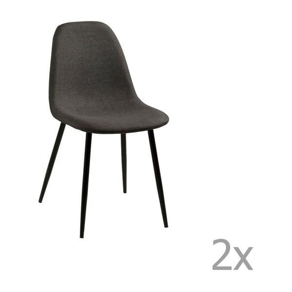 Sada 2 tmavě šedých jídelních židlí Actona Wilma Dining Set