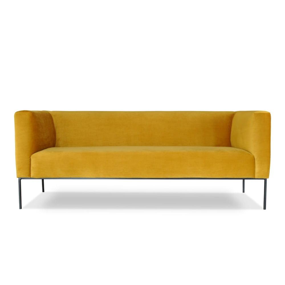 Žlutá trojmístná pohovka Windsor & Co. Sofas Neptune