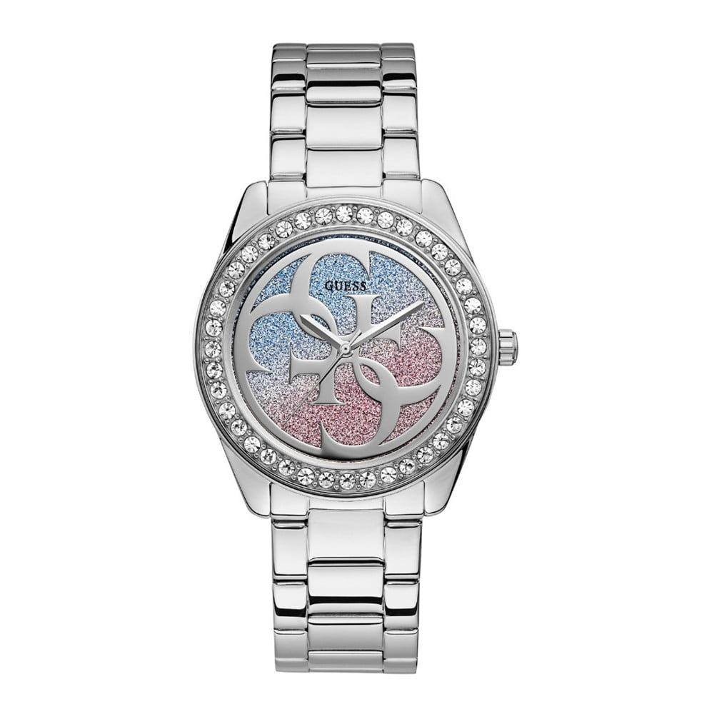 3c814183f Dámské hodinky ve stříbrné barvě s páskem z nerezové oceli Guess W1201L1