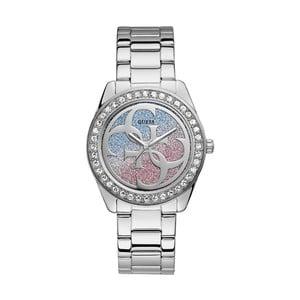 Dámské hodinky ve stříbrné barvě s páskem z nerezové oceli Guess W1201L1