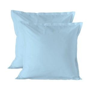 Sada 2 světle modrých povlaků na polštář Basic, 60x60cm