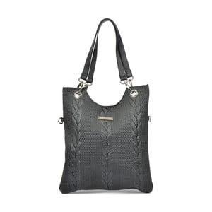 Černá kožená kabelka Mangotti Casmina