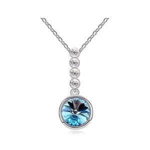 Náhrdelník s modrým krystalem Swarovski a bílým zlatem Divina