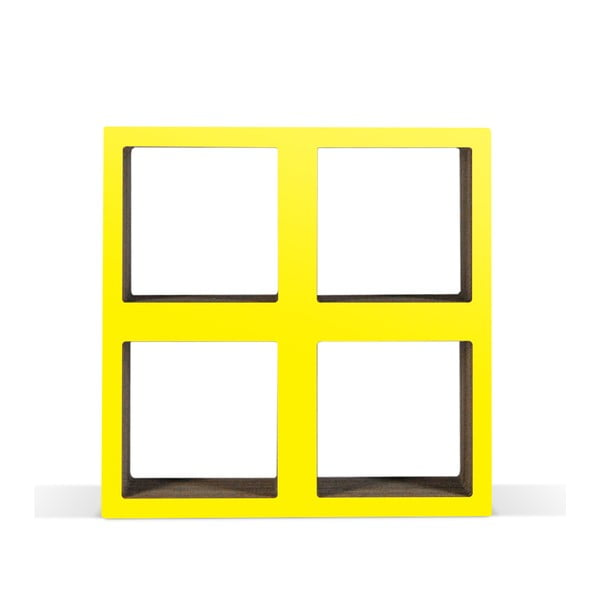 Kartonová knihovnička Bit Square Yellow