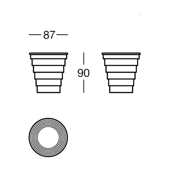 Držák Chromo Glass, 8,7x9x8,7 cm