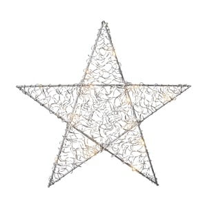 Závěsná svítící LED dekorace Best Season Loop Star Chrome