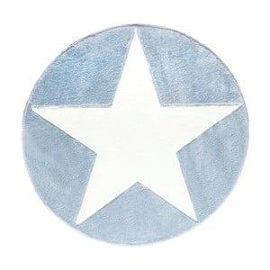 Modrý dětský koberec Happy Rugs Round, Ø133cm