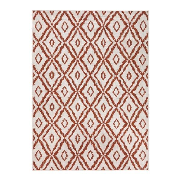 Covor adecvat pentru exterior Bougari Rio, 80 x 150 cm, roșu - alb