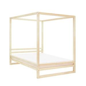 Dřevěná dvoulůžková postel Benlemi Baldee Nature, 190x180cm
