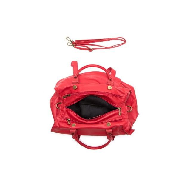 Kožená kabelka Anna Luchini 2043 Rosso