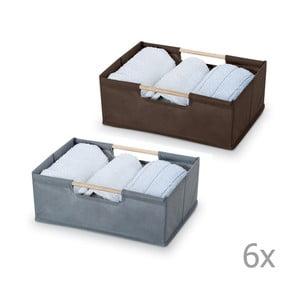 Sada 12 úložných boxů Bonita Basket, malé