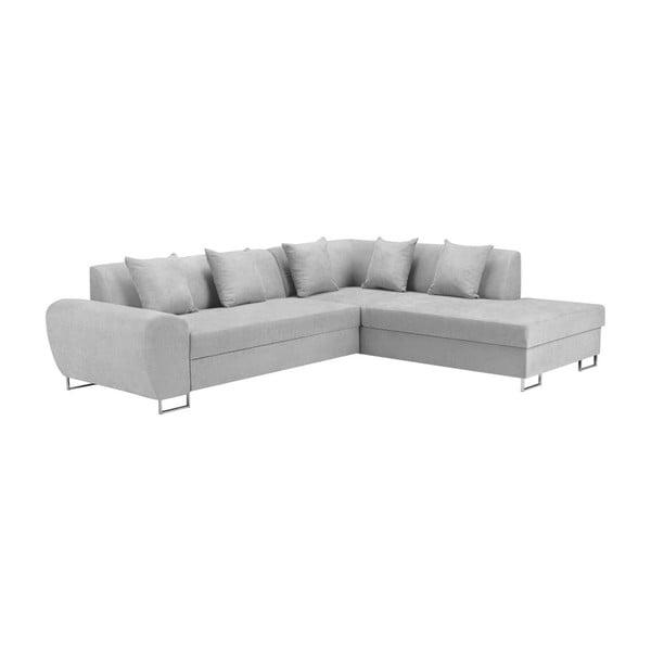Šedá rohová rozkládací pohovka s úložným prostorem Kooko Home XL Right Corner Sofa Piano