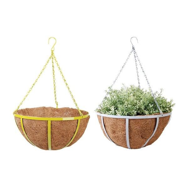 Sada 2 závěsných květináčů z kokosových vláken Magic, 36 cm