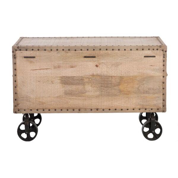 Truhla na kolečkách Wood Natural, 90x40x60 cm