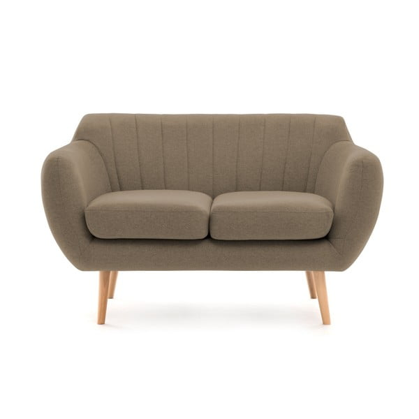 Canapea cu 2 locuri Vivonia Kennet, maro - cenușiu