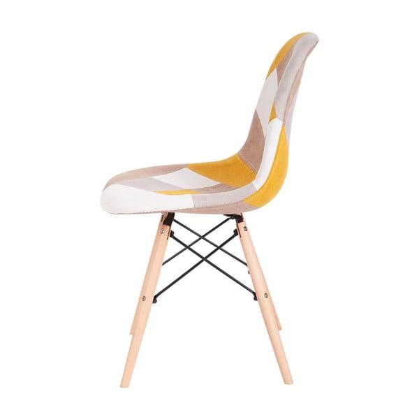 Set 4 scaune sømcasa Karen, galben