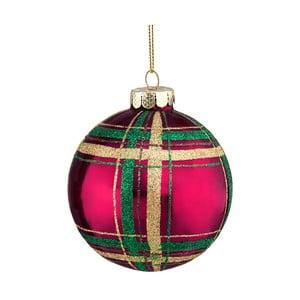 Červeno-zelená vánoční závěsná ozdoba Butlers, ⌀ 8 cm