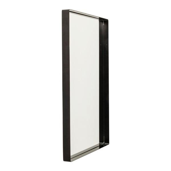 Nástěnné zrcadlo s černým rámem Kare Design Shadow, 90x60cm