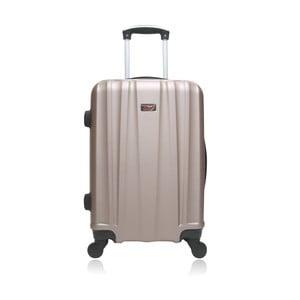 Béžový hnědý cestovní kufr na kolečkách Hero Journey, 36 l