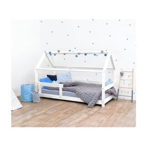 Bílá dětská postel s bočnicemi ze smrkového dřeva Benlemi Tery, 90 x 190 cm