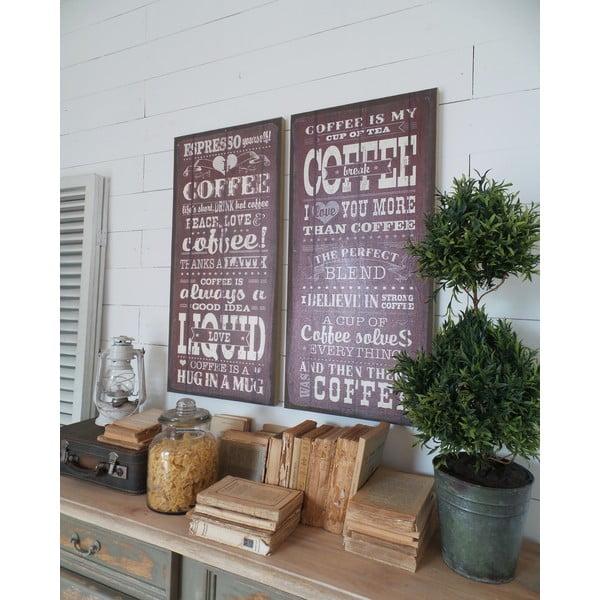 Nástěnná dekorace Coffee Addict, 2 ks