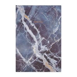 Modrý zápisník Ohh Deer Marble, 44 stránek