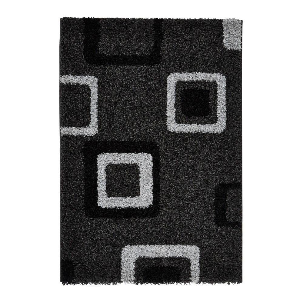 Šedo-černý koberec Think Rugs Majesty, 80 x 150 cm