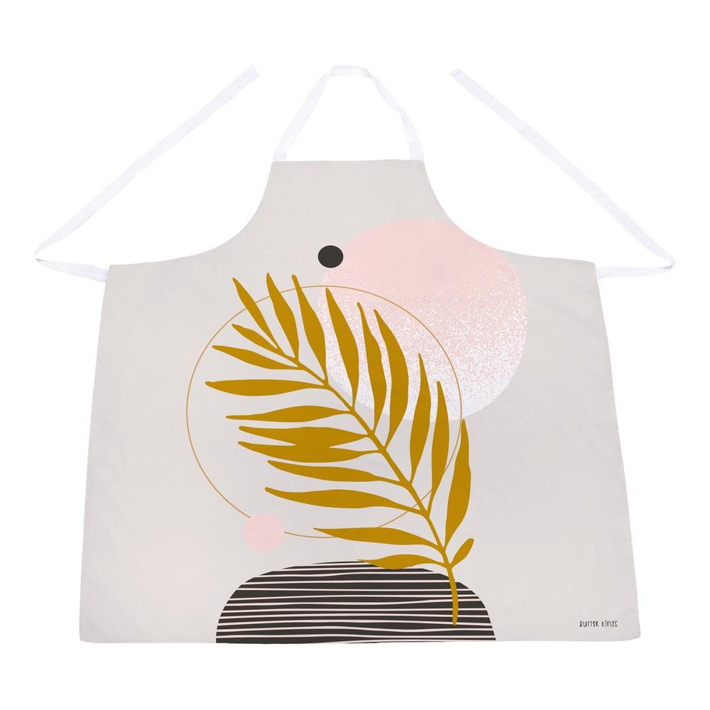 Bavlněná kuchyňská zástěra Butter Kings Terracotta Leaf