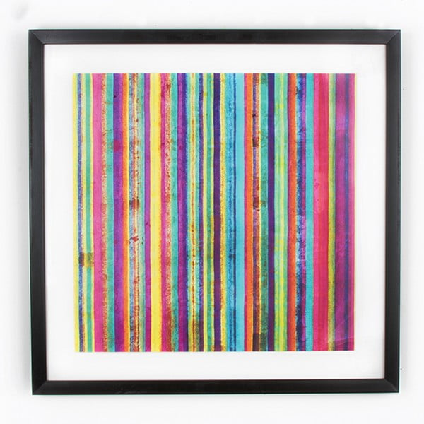 Neon Stripe fali kép, 50 x 50 cm - Graham & Brown