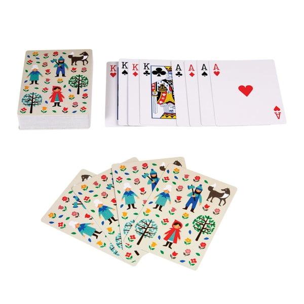 Hrací karty s motivem Červené Karkulky Rex London Red Riding Hood