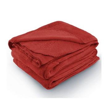 Pătură din microfibră AmeliaHome Tyler, 220 x 240 cm, roșu